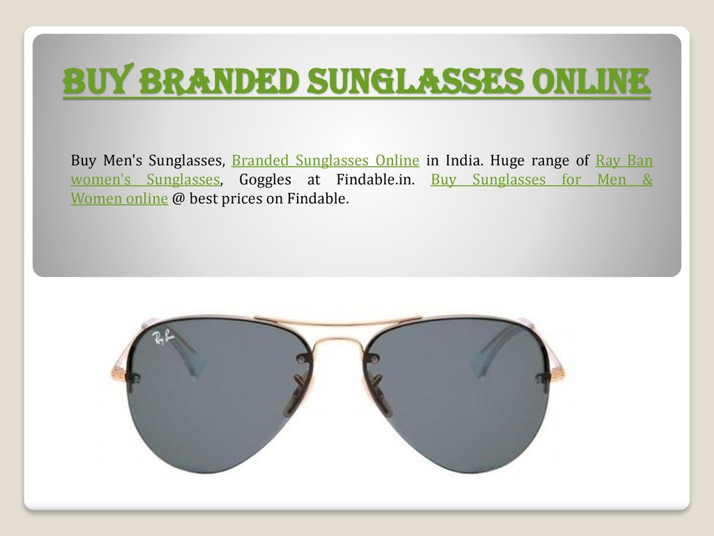 7ed67929276 Shop Ray-Ban Sunglasses Online - ppt download