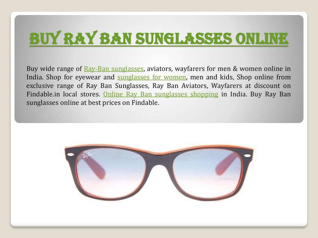 9178d776c1 Shop Ray-Ban Sunglasses Online - ppt download