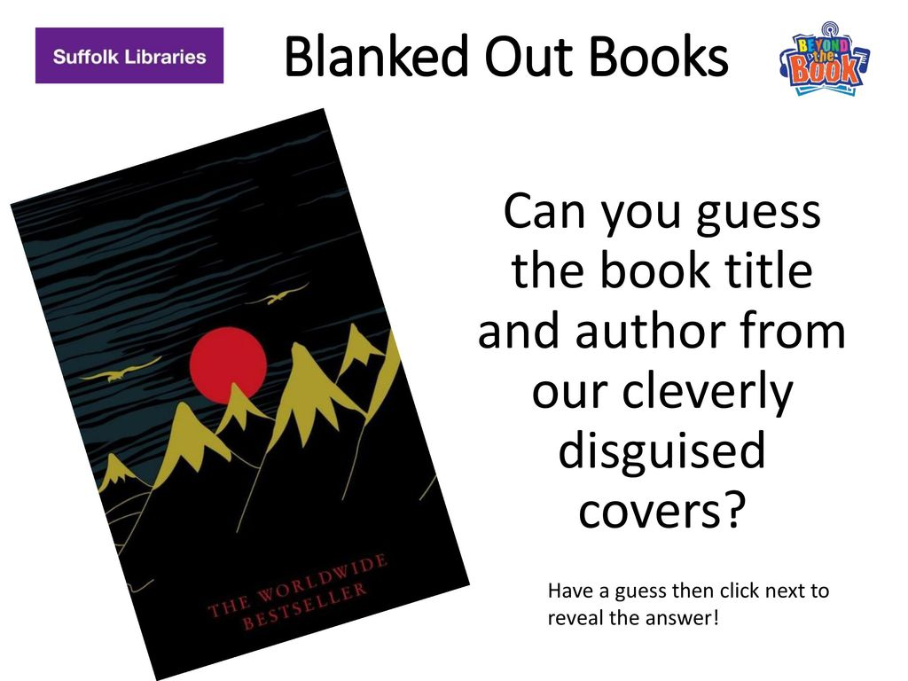 Blanked Out Books Can You Guess The Book Title And Author From Our