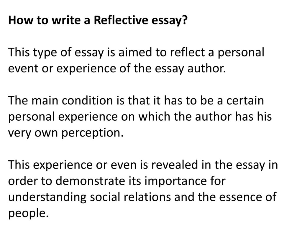 Reflective Essay  Ppt Download How To Write A Reflective Essay
