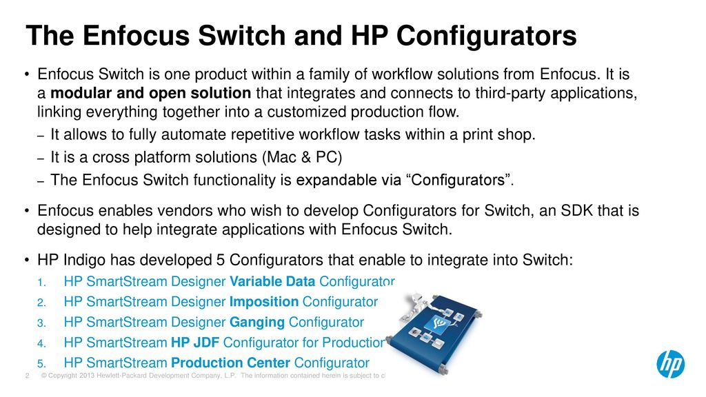 Enfocus Switch and HP Configurators - ppt download