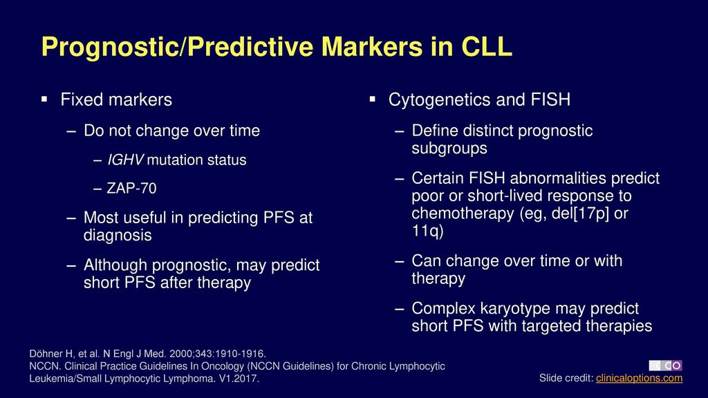 Diagnosis and Prognosis of Chronic Lymphocytic Leukemia - ppt download