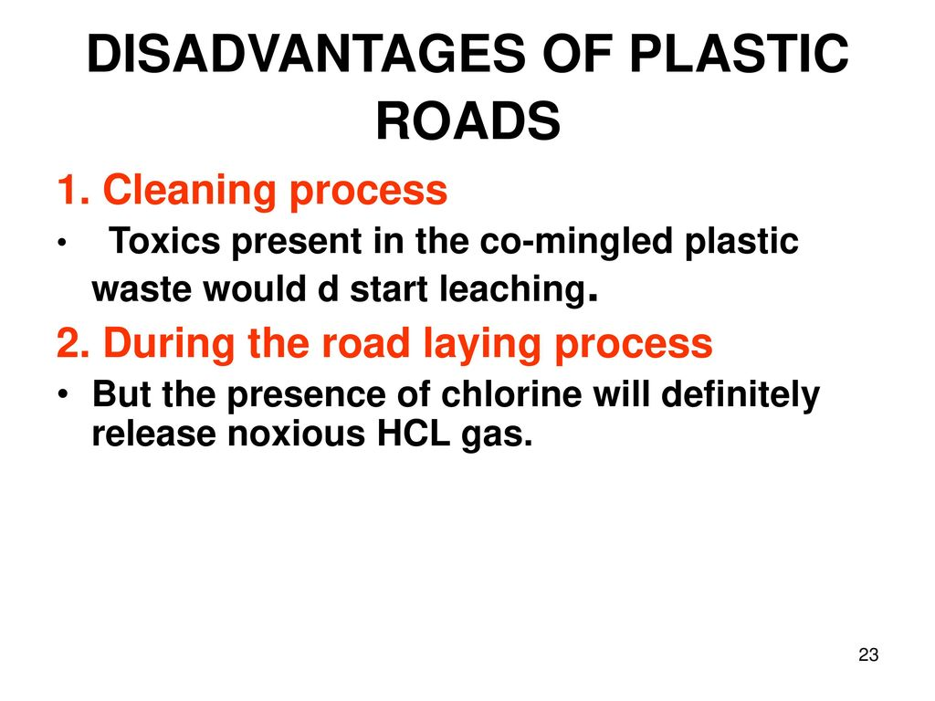 USE OF PLASTIC WASTE IN ROAD CONSTRUCTION - ppt download
