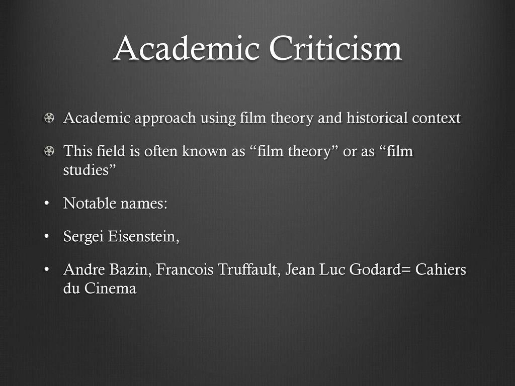 Film Criticism Ppt Download