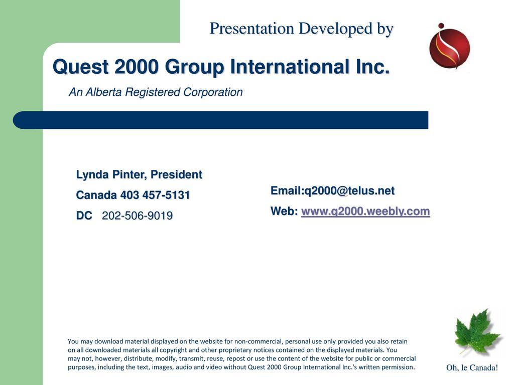 quest 2000 group international inc