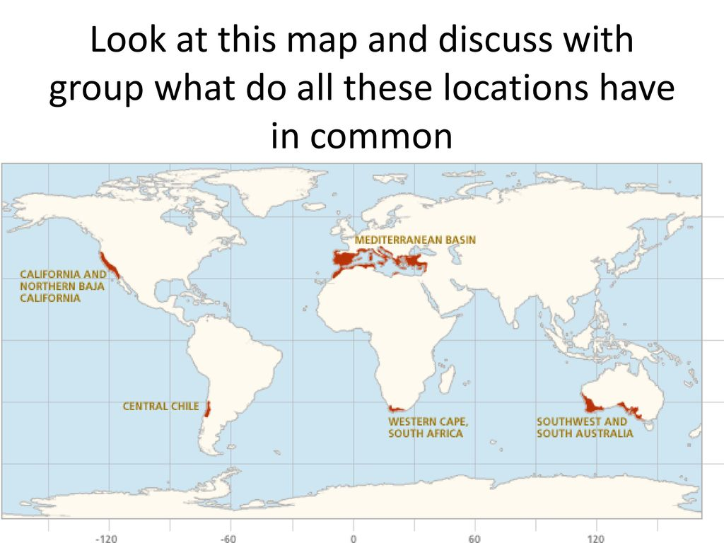 Chaparral World Map.Chaparral Biome 30 Seconds To Speak With Your Group About What This