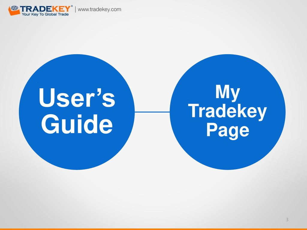 Table Of Content My TradeKey Page Messages Page Company Profile