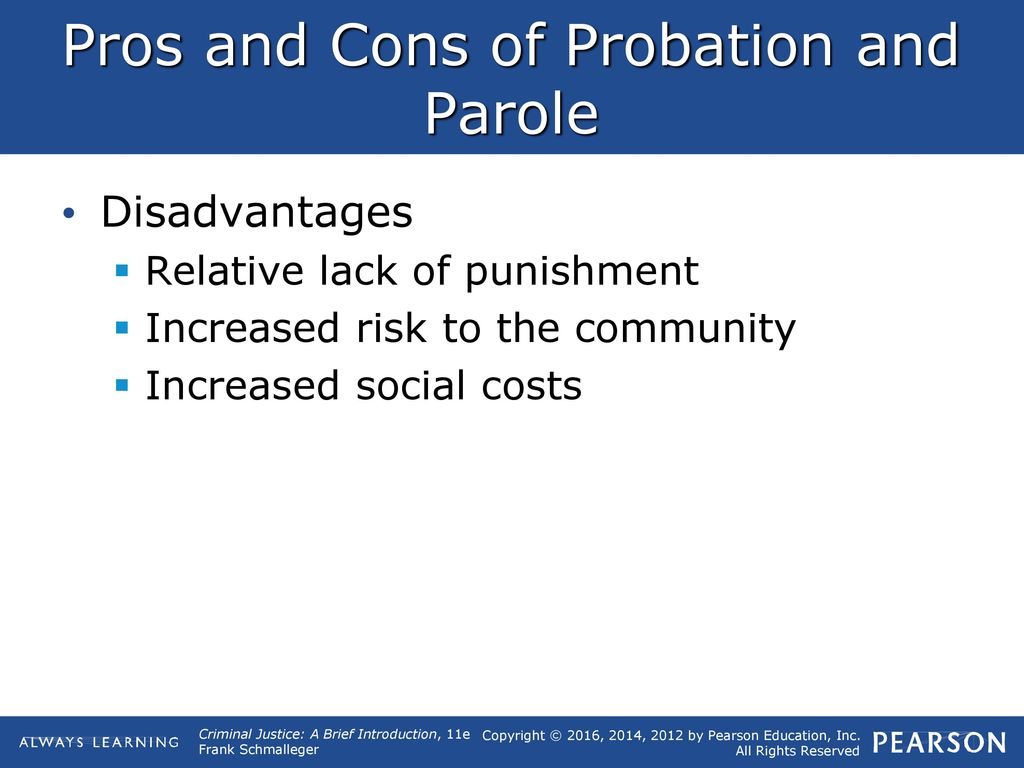pros and cons of parole