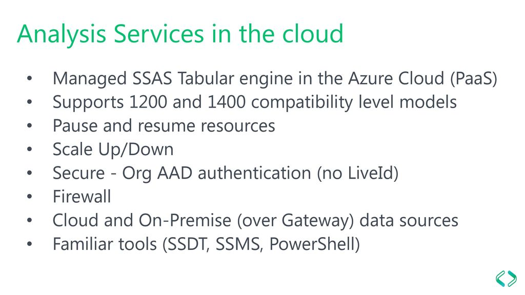 Cloud BI with Azure Analysis Services - ppt download