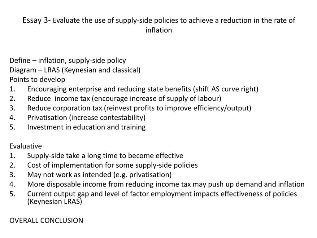 inflation essay conclusion