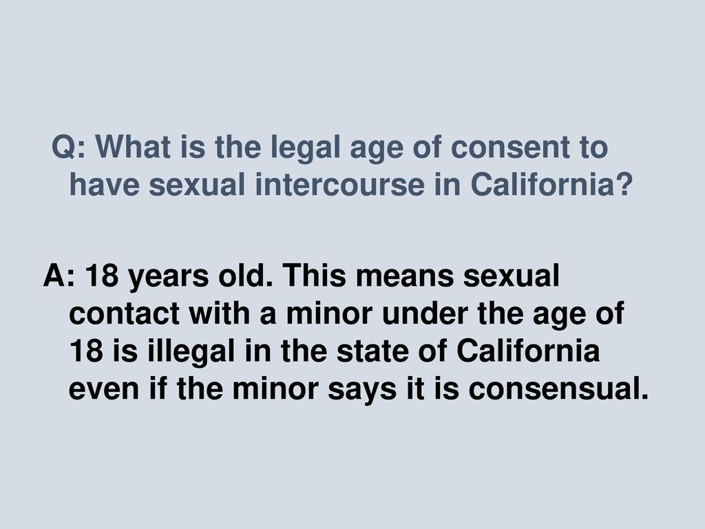 Definition of sexual intercourse in california
