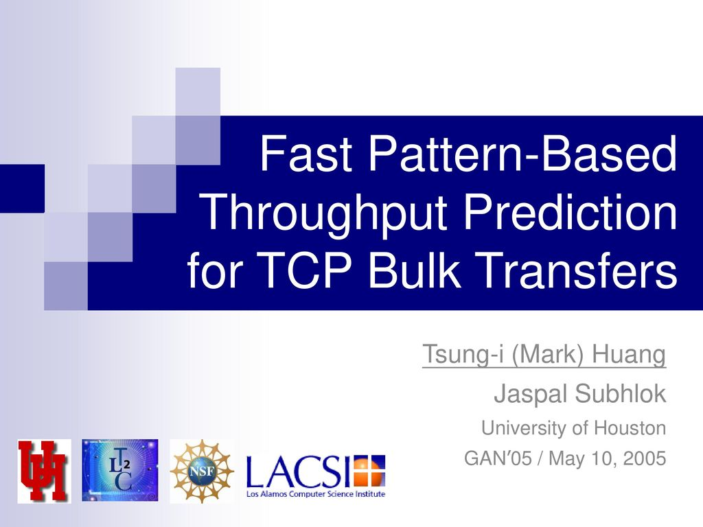 Fast Pattern-Based Throughput Prediction for TCP Bulk Transfers