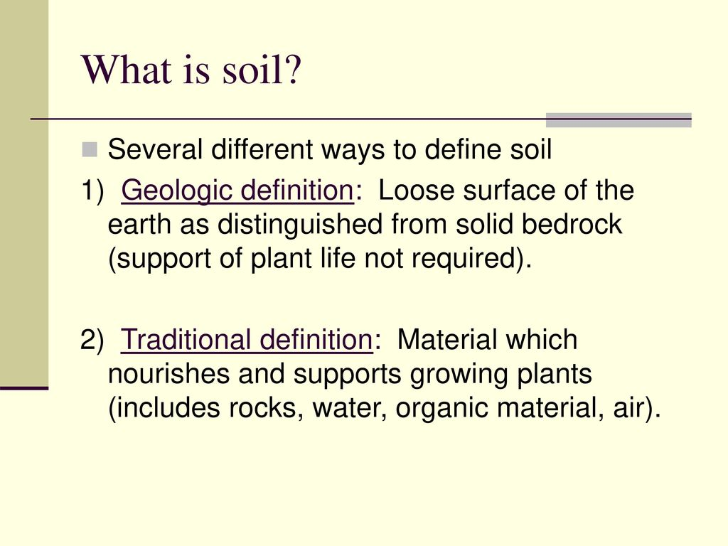 an introduction to soil - ppt download