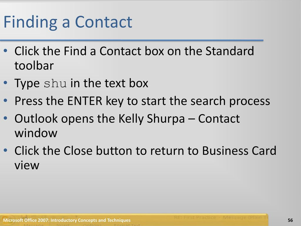Managing and Contacts with Outlook - ppt download