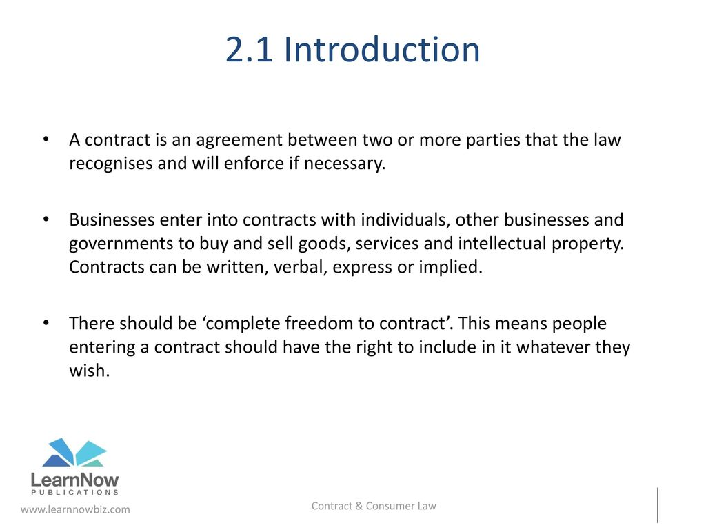 Contract Consumer Law Chapter 2 Ppt Download