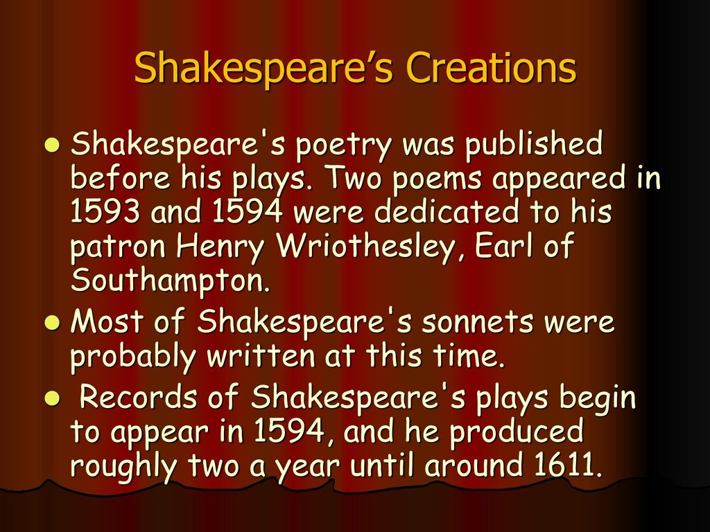 William Shakespeare  - ppt download