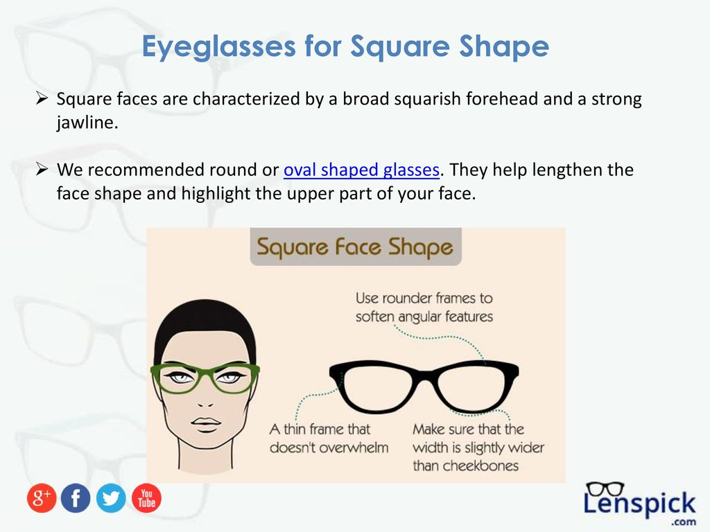 The Best Eyeglasses for Your Face Shape - ppt download