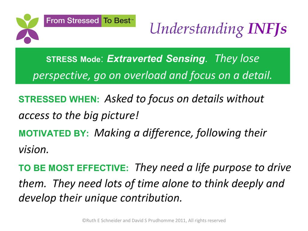 Infj extraverted sensing