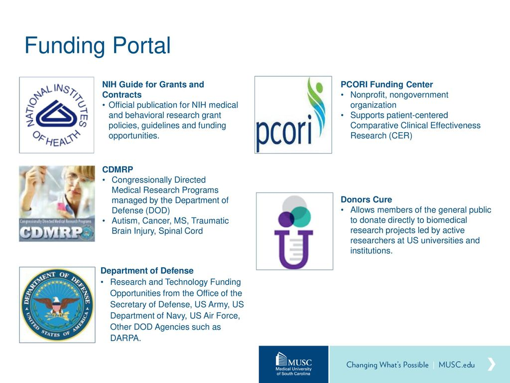 Department Of Defense Autism Research Program Funding >> How To Fund Your Research Ppt Download