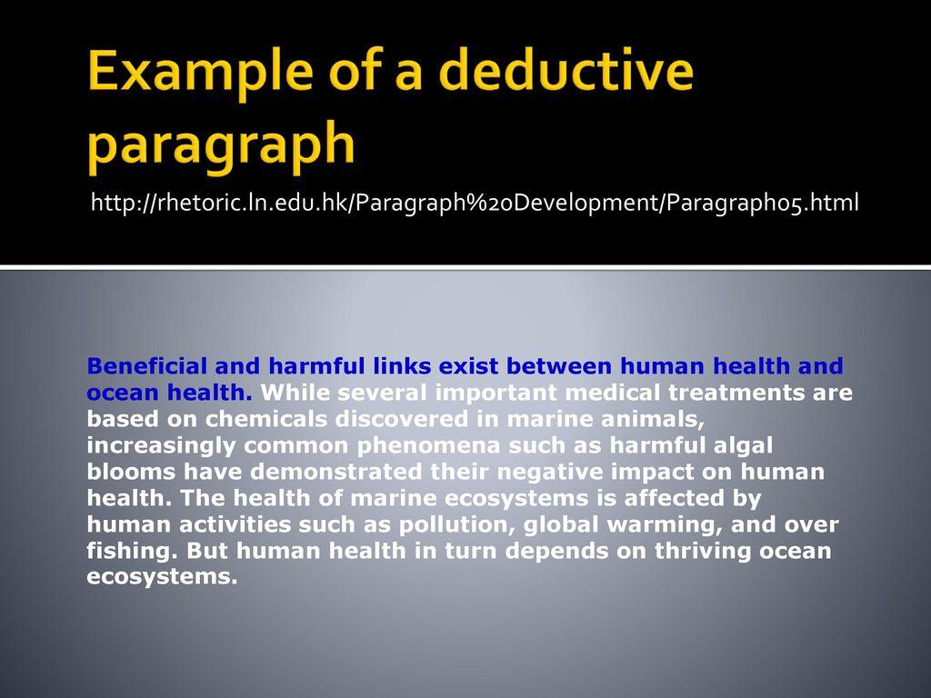 deductive paragraph