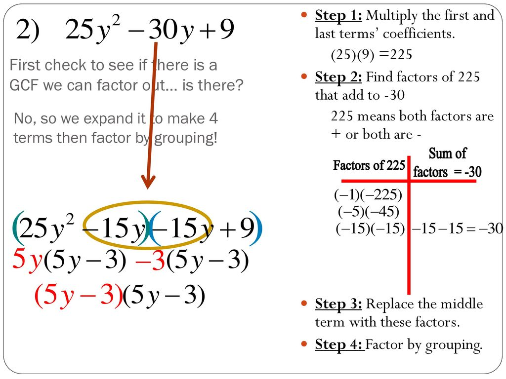 FACTORING TRINOMIALS with leading coefficient - ppt download