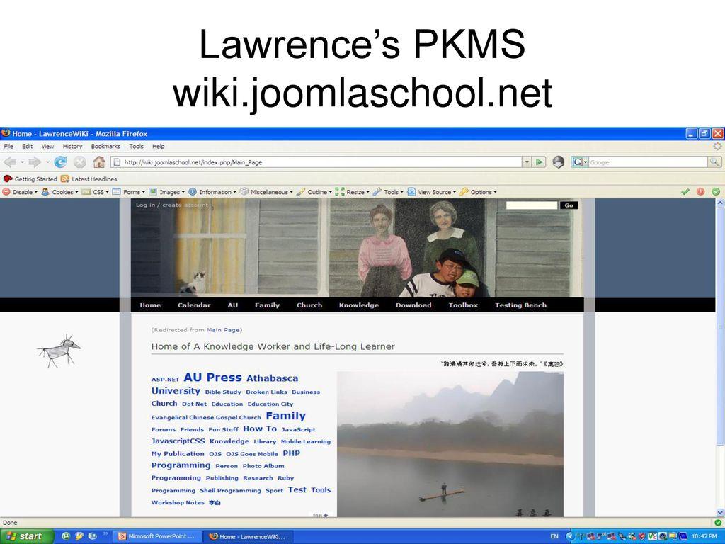Wikipedia  Wikipedia MediaWiki Lawrence's PKMS wiki