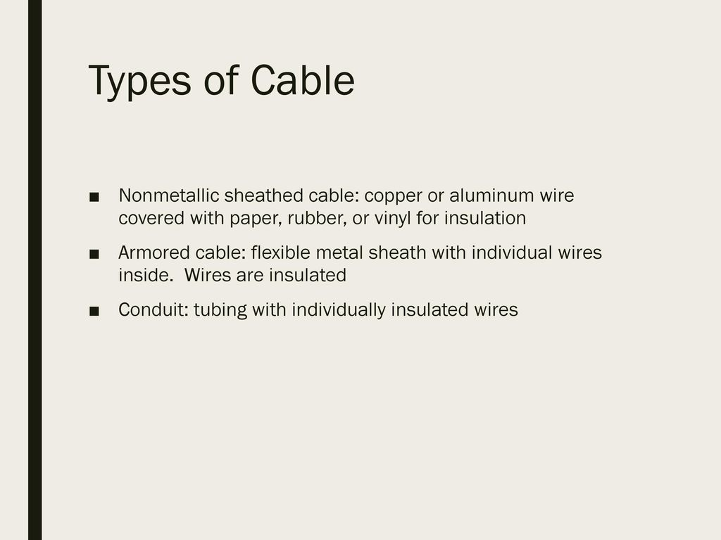 Electrical Wire Identification Ppt Download Wiring Types 2