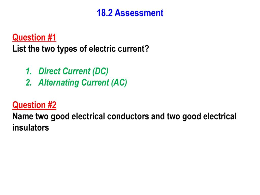 Electric Current Resistance And Voltage Ppt Download Dc Circuit Water Analogy 15 182 Assessment