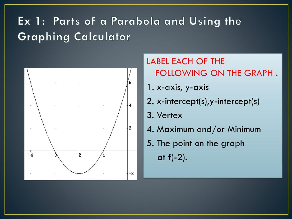 Sec 7: Parabolas Homework: - ppt download
