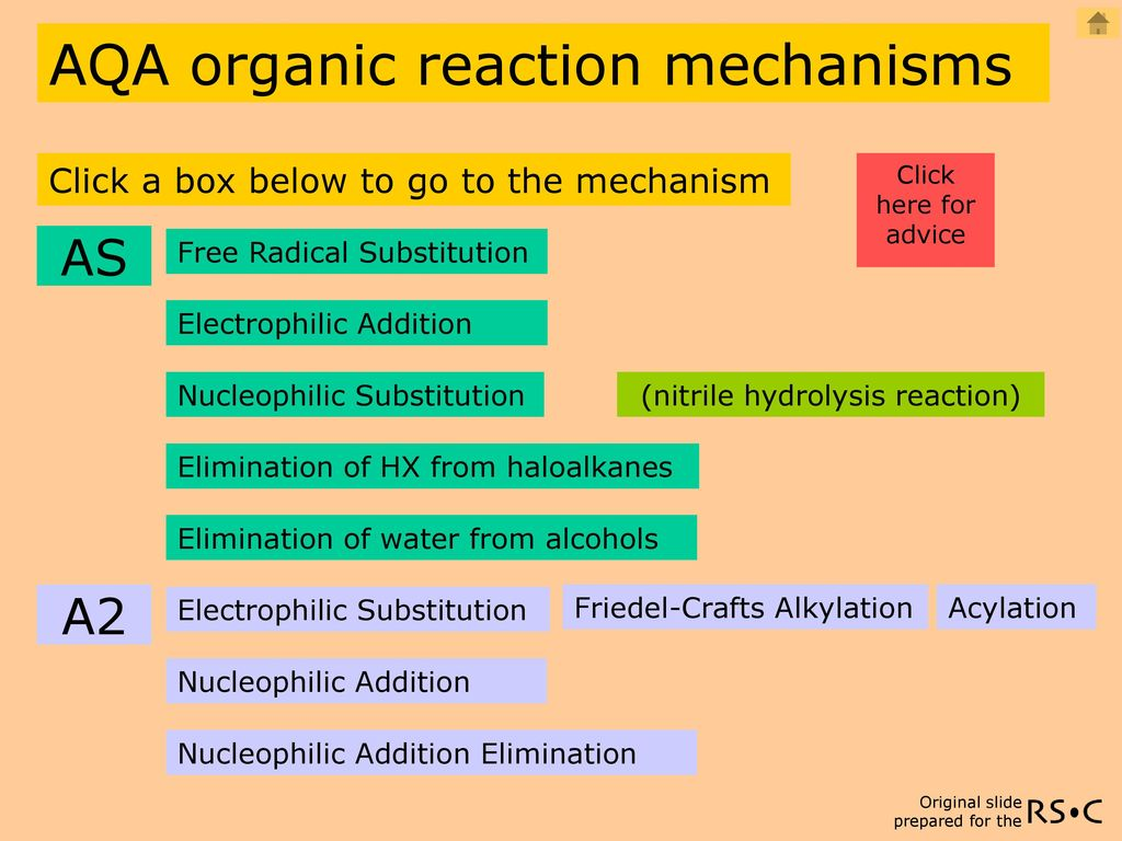 AQA organic reaction mechanisms - ppt download