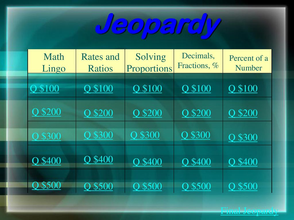 LET\'S PLAY JEOPARDY!!. - ppt download