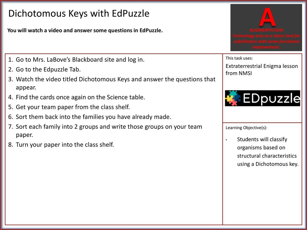 Monsters Aliens Intro To Dichotomous Keys Ppt Download