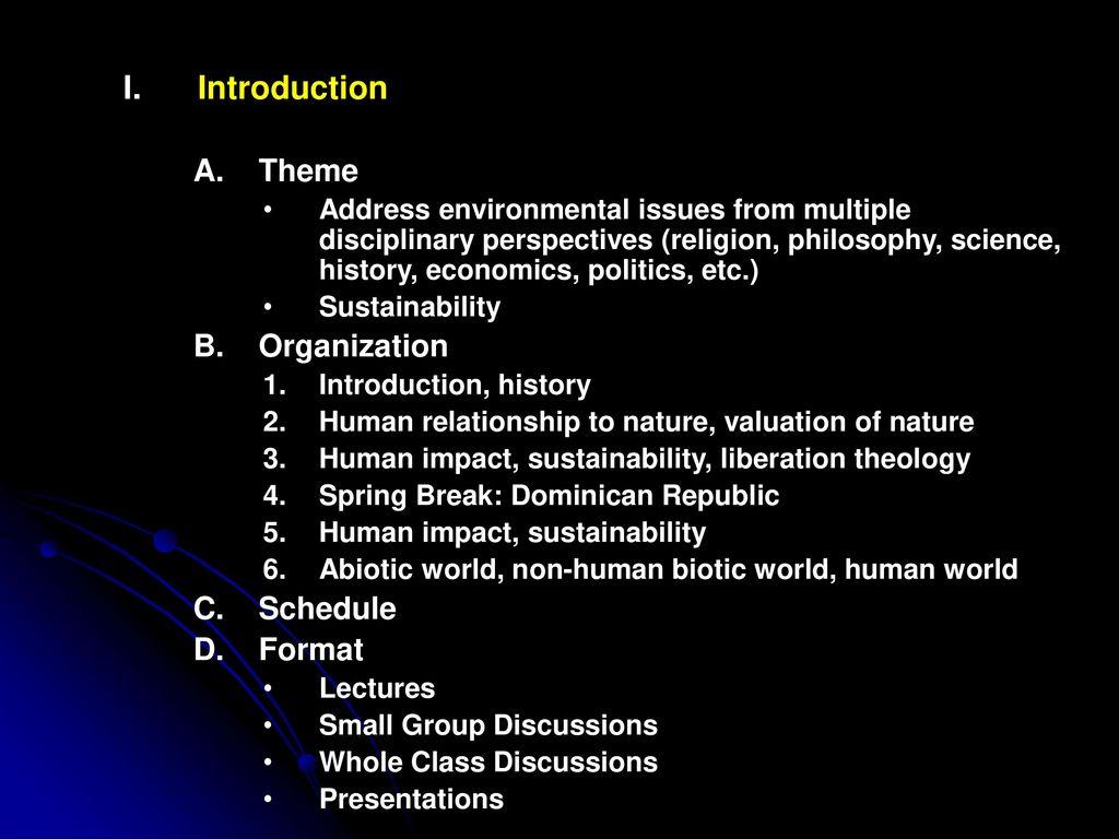 Interdisciplinary Seminar in Environmental Studies (HNRS 379/380/381