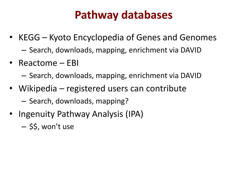 Pathway Analysis June 13, ppt download