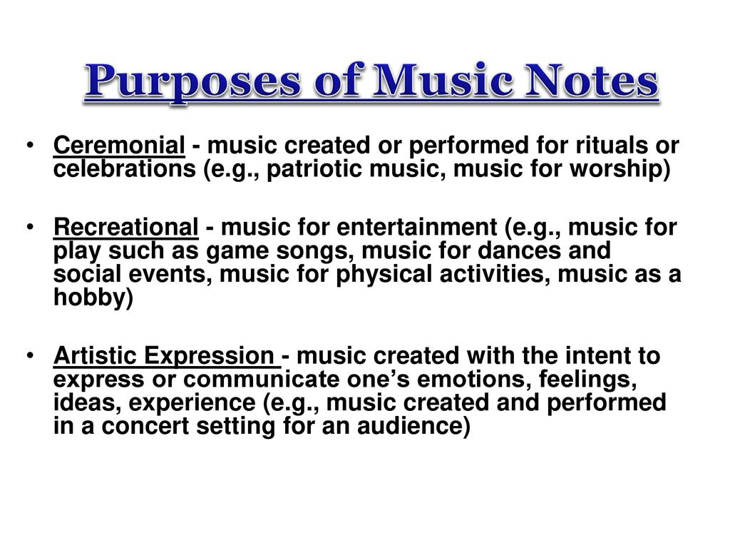 MUSIC BASICS & NOTATION - ppt download