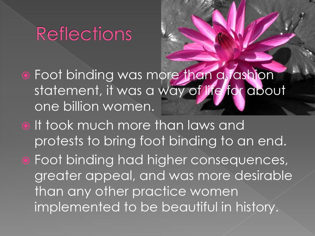 Chinese Foot Binding Pain Is Beauty Ppt Download