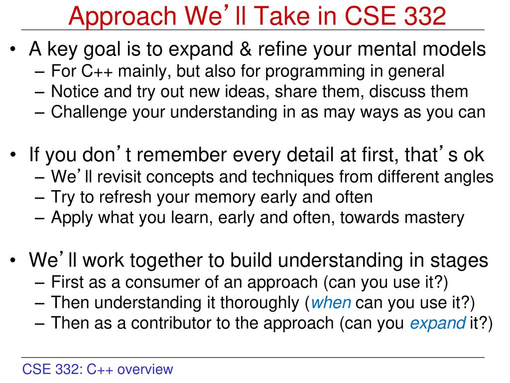 CSE 332 Overview and Structure - ppt download