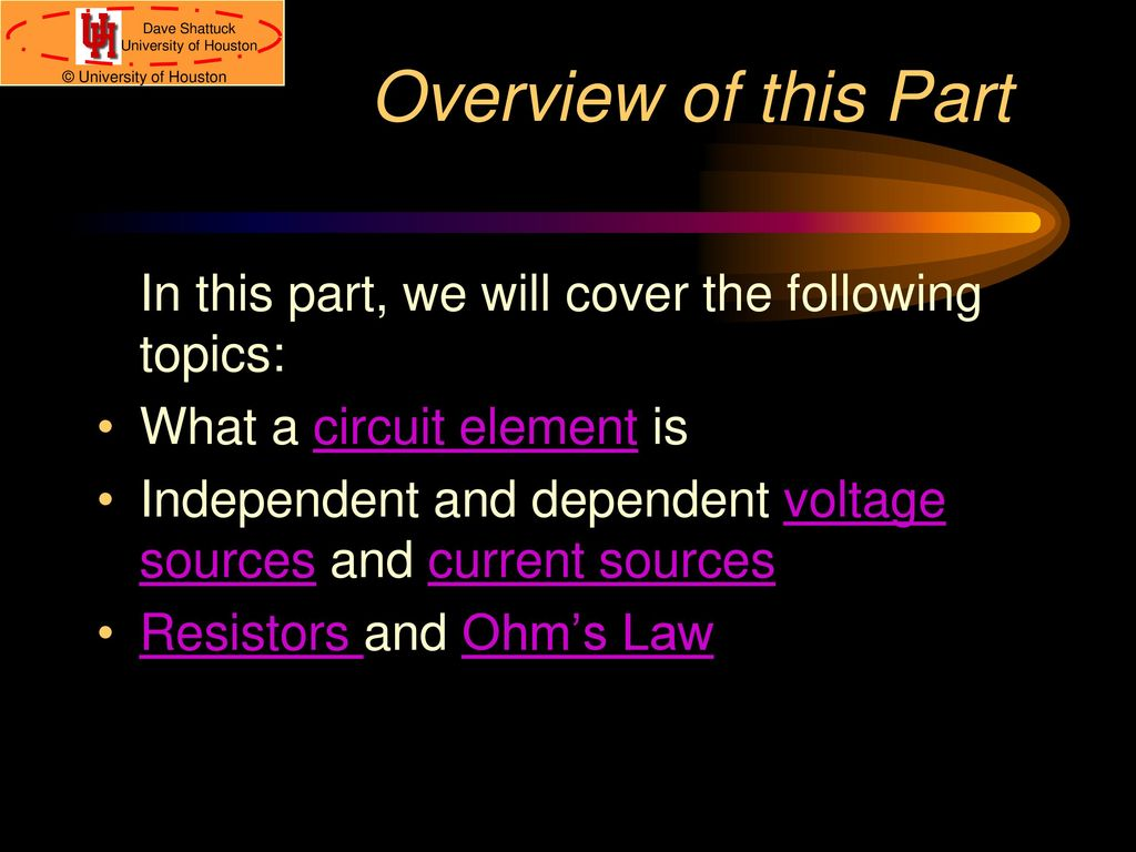 Circuit Elements Ohms Law Kirchhoffs Laws Ppt Download What A Overview Of This Part In We Will Cover The Following Topics