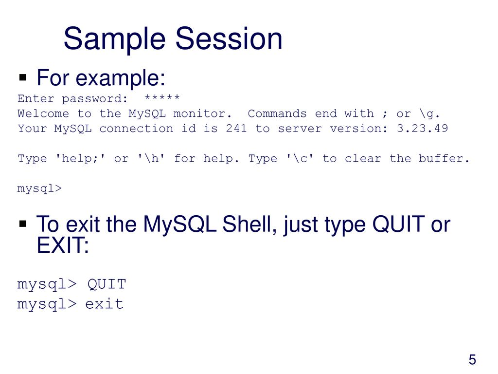 Introduction to MySQL  - ppt download