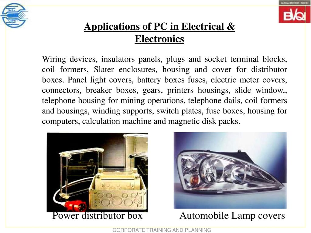 Polycarbonate Pc Ppt Download Electrical Fuse Box Panel Cover Power Distributor Automobile Lamp Covers Applications Of In Electronics