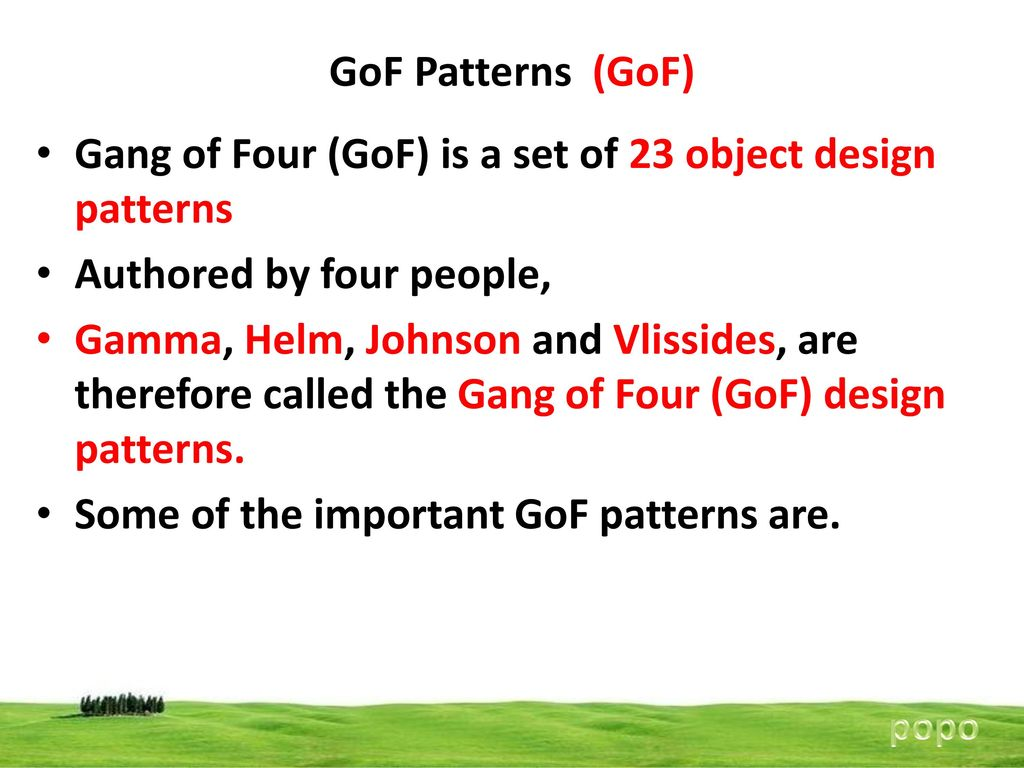 Gang Of Four Patterns Best Design Inspiration