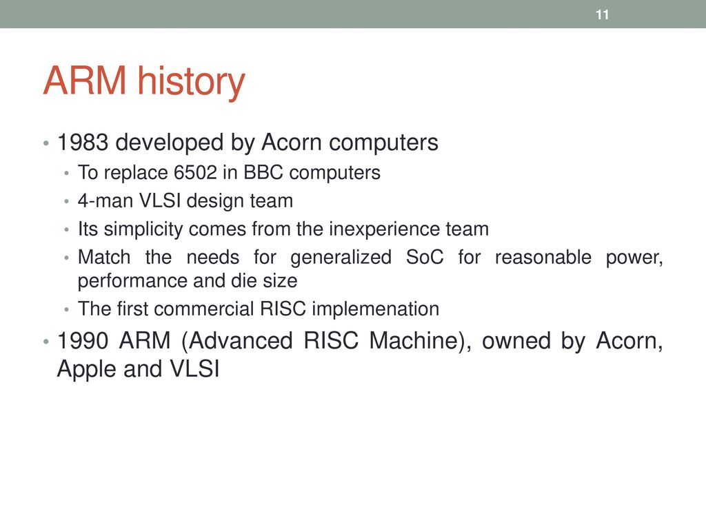 Microprocessors versus Microcontrollers, ARM Embedded Systems, ARM