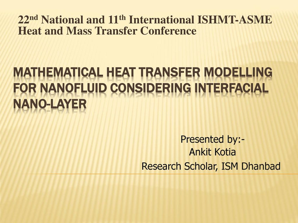 Research Scholar, ISM Dhanbad - ppt download