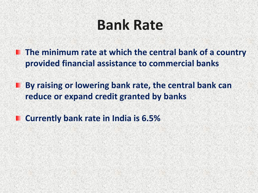 8 Bank Rate