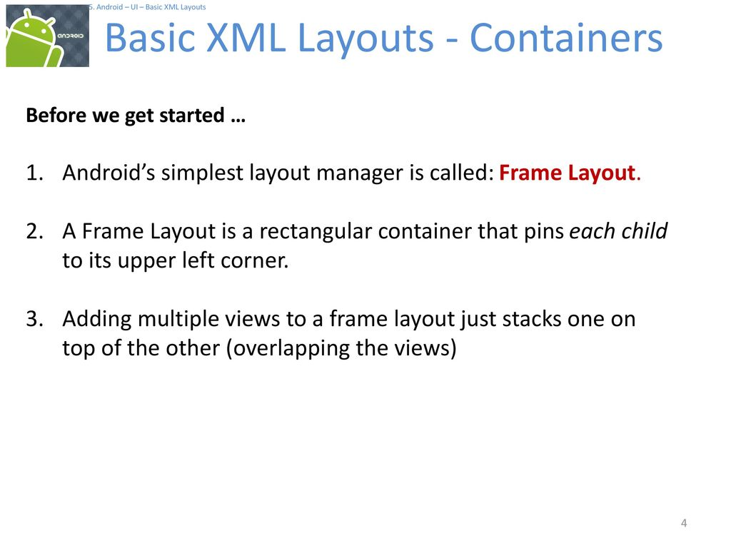 Android Basic XML Layouts - ppt download