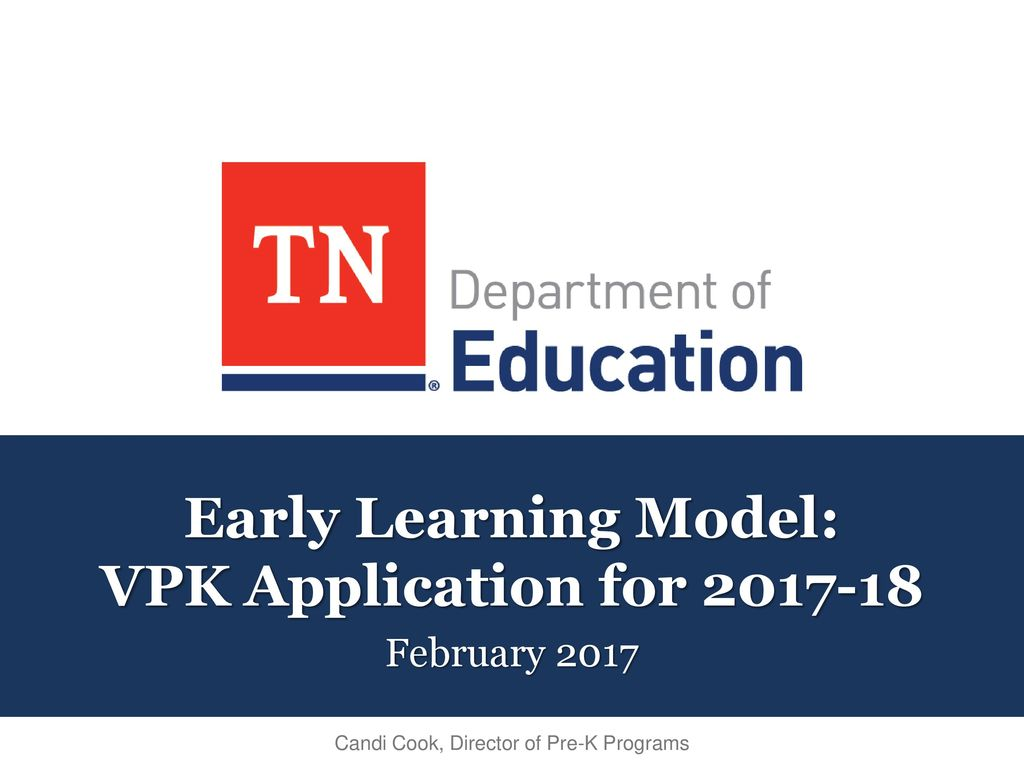 Early Learning Model Vpk Application For Ppt Download