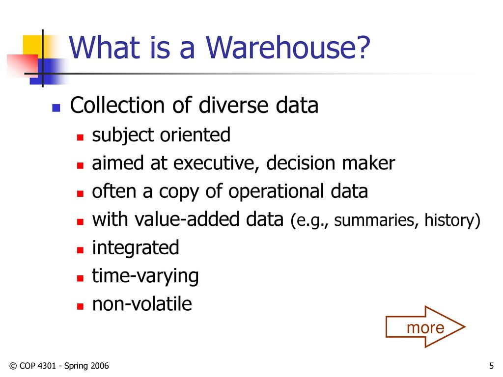 Data Warehousing CIS 4301 Lecture Notes 4/20/ ppt download