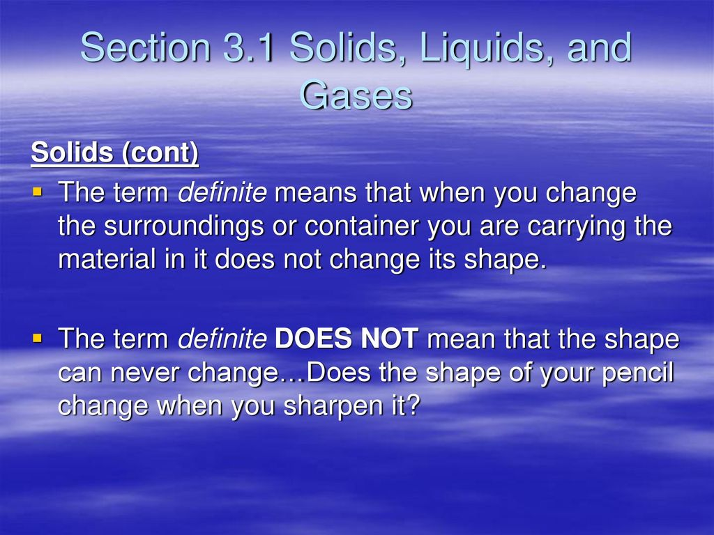 chapter 3 states of matter. - ppt download