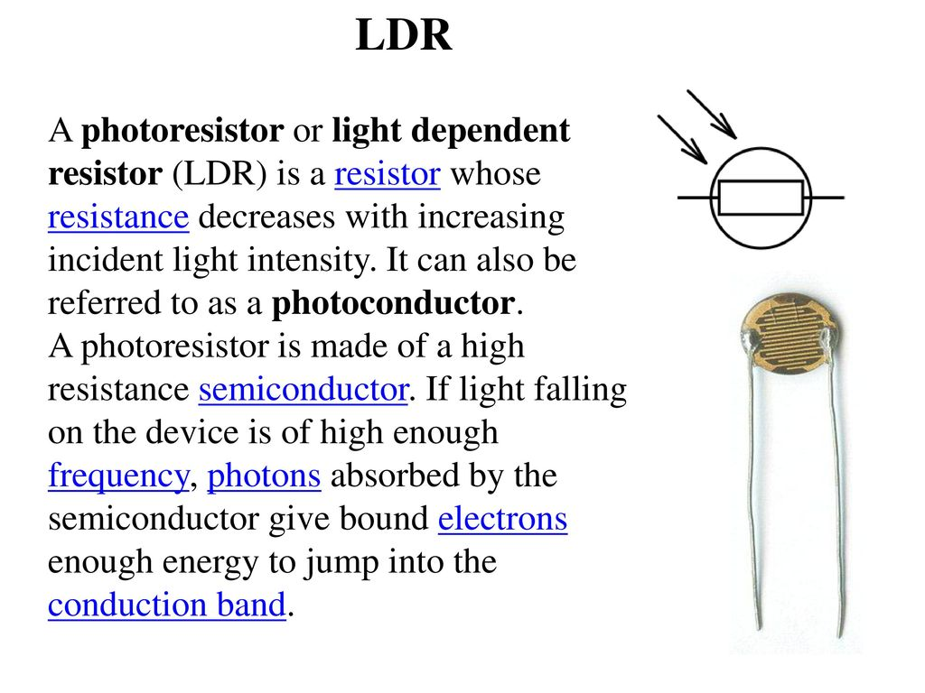 Evening On To Morning Off Ppt Download Bright Light For This Ldr Electronic Circuit You Can Use A Wide Range