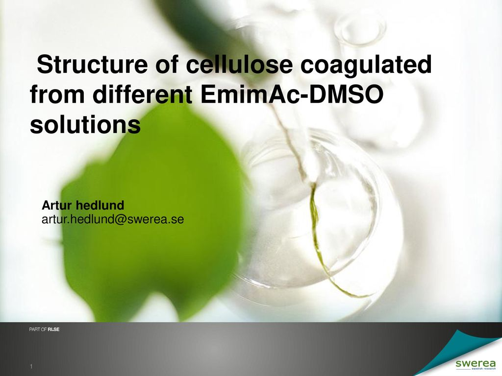 Structure of cellulose coagulated from different EmimAc-DMSO